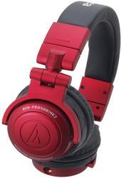 audio technica ath pro500mk2 pro dj monitor headphones red photo