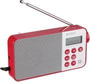 sony xdr s40dbpr portable digital dab dab radio red photo