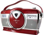 soundmaster rcd1350ro retro cd mp3 usb radio red photo