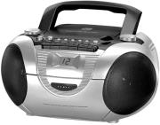 soundmaster scd5350si cd boombox with radio cassette and external microphone silver photo