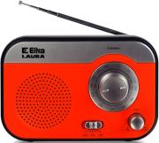 eltra radio laura red silver photo
