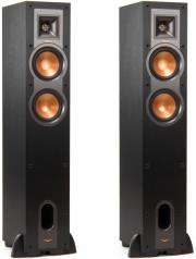 klipsch r 24f reference floorstanding speakers set black photo