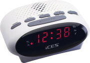 lenco icr 210 fm clock radio white photo