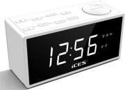 lenco icr 240 fm radio with alarm clock white photo