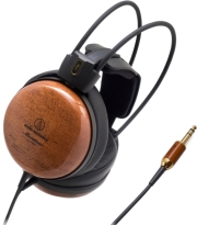 audio technica ath w1000z audiophile closed back dynamic wooden headphones photo