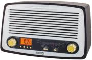 camry cr1126 retro radio fm am with mp3 player usb sd black photo