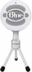blue snowball ice cardioid condenser microphone white photo