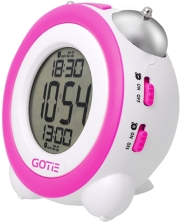 gotie gbe 200f digital clock with mechanical bell alarms violet