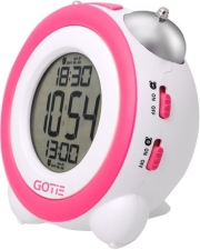 gotie gbe 200r digital clock with mechanical bell alarms red photo