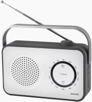 sencor srd 2100w portable fm am radio receiver white photo