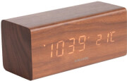 karlsson ka5652dw block table clock brown photo