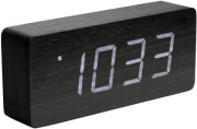 karlsson ka5654bk tube table clock 21cm black photo