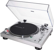 audio technica at lp120xusb direct drive professional turntable silver photo