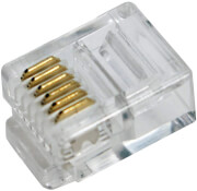 logilink mp0019 rj12 modular plug unshielded 100pcs photo