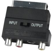 scart adapter 3 in 1 including in out switch photo
