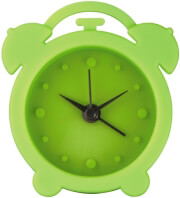 hama 123142 mini silicone alarm clock green photo
