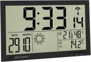 bresser mytime jumbo lcd weather wall clock black photo