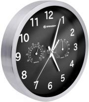 bresser mytime thermo hygro wall clock 25cm black photo
