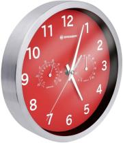 bresser mytime thermo hygro wall clock 25cm red photo