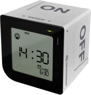 bresser flipme radio controlled alarm clock silver photo