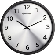 bresser mytime silver edition wall clock black photo