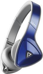 monster dna on ear headphones apple controltalk cobalt blue over light grey photo