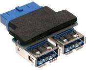 inline internal adapter usb30 to external 2xusb30 platinum photo