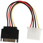 valueline vlcp73530v015 internal power adapter cable sata 15 pin male molex female 015m photo