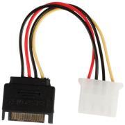 valueline vlcp73530v015 internal power adapter cable sata 15 pin male molex female 015m photo