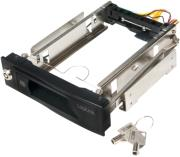 logilink mr0005 mobile rack 525 for 1x 35 hdd black photo