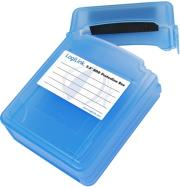 logilink ua0132 hard cover protection box for 2x 25 hdd blue photo