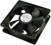 logilink fan101 pc case cooler fan 80x80x25mm black photo