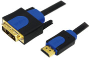 logilink chb3101 hdmi high speed with ethernet v14 to dvi d cable gold plated 10m black photo