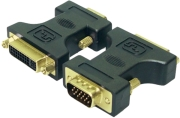 logilink ad0002 dvi adapter dvi i female hd dsub male gold plated photo