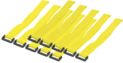 logilink kab0015 wire strap 300x20mm 10pcs yellow photo