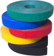 logilink kab0054 wire strap with velcro tape 16mm 4m green photo