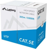 lanberg utp stranded cable cca cat 5e 305m grey photo