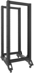 lanberg open rack 19 27u 600x800mm black photo