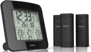hama 136293 ews trio weather station with 3 sensors black photo