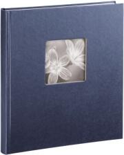 hama 02118 fine art bookbound album 29x32cm 50 white pages blue photo