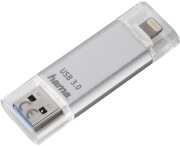 hama 124142 save2data 64gb flashpen usb 30 lightning silver photo