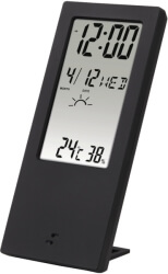 HAMA 176913 TH-140 THERMOMETER/HYGROMETER WITH WEATHER INDICATOR BLACK