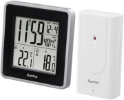 hama 176924 ews intro weather station black silver outdoor sensor photo