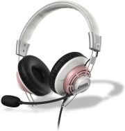 hama 139913 style pc headset usb white pink photo