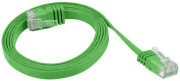 lanberg patchcord cat5e flat 15m green photo