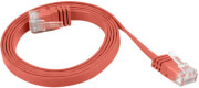 lanberg patchcord cat5e flat 1m red photo