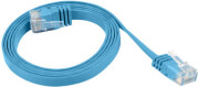 lanberg patchcord cat5e flat 3m blue photo
