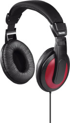 hama 184012 basic4music hk 5618 stereo headphones black red photo