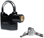 logilink sc0213 robust safety padlock with alarm black photo