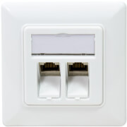 logilink nk4023 keystone face plate with 2 cat6a modules white photo